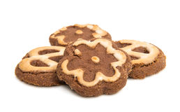 Biscoitos isolados Imagens de Stock Royalty Free