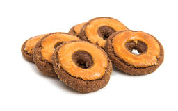 Biscoitos isolados Fotografia de Stock Royalty Free