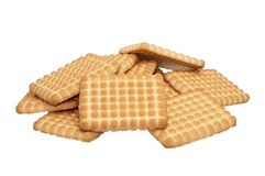 Biscoitos isolados no fundo branco Foto de Stock Royalty Free