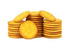Petiscos salgados, biscoitos circulares. Imagens de Stock