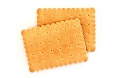 Biscoitos isolados no fundo branco Imagem de Stock Royalty Free