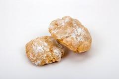 Biscoitos italianos da amêndoa no açúcar pulverizado Imagem de Stock