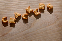 biscoitos Letras comestíveis Imagem de Stock