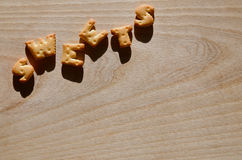 Biscoitos Letras comestíveis Foto de Stock