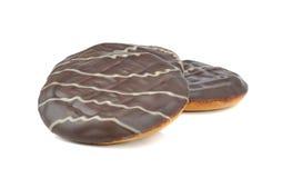 Biscoitos macios do bolo do chocolate redondo Fotos de Stock