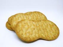 Biscoitos marrons crocantes do trigo Fotografia de Stock Royalty Free