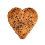 Biscoitos na forma de um coração Imagens de Stock