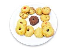 Biscoitos na placa Foto de Stock