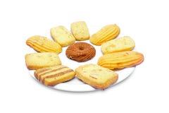 Biscoitos na placa Foto de Stock Royalty Free