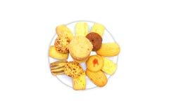 Biscoitos na placa Fotos de Stock Royalty Free