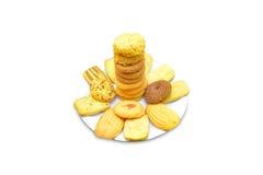 Biscoitos na placa Fotografia de Stock Royalty Free