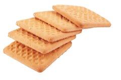Biscoitos no branco Imagem de Stock Royalty Free