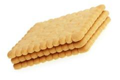 Biscoitos no branco Fotos de Stock Royalty Free