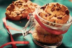 Biscoitos no frasco imagem de stock