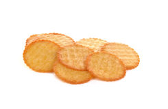 Biscoitos no fundo branco Imagem de Stock