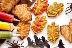 Biscoitos para Dia das Bruxas foto de stock royalty free