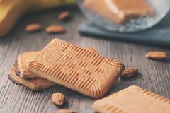 Biscoitos rústicos home com amêndoa Fotografia de Stock