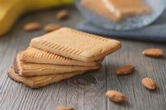 Biscoitos rústicos home com amêndoa Imagens de Stock