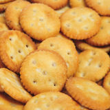 Biscoitos redondos salgados Fotografia de Stock