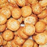 Biscoitos redondos salgados Imagem de Stock Royalty Free