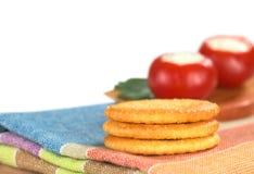 Biscoitos salgados Fotografia de Stock