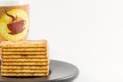 Biscoitos salgados Imagem de Stock