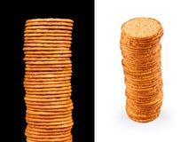 Biscoitos salgados Imagens de Stock Royalty Free