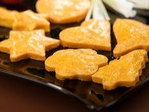Biscoitos salgados com cebola e tomate Foto de Stock Royalty Free