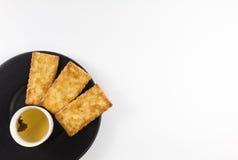 Biscoitos salgados com chá Fotos de Stock Royalty Free
