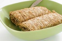 Biscoitos Shredded do trigo Fotografia de Stock Royalty Free