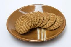 Biscoitos torrados da mordida Fotografia de Stock