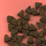 Biscoitos triangulares do gato fotografia de stock royalty free