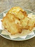 Biscoitos tuile da amêndoa Fotos de Stock Royalty Free