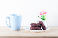 Biscoitos vermelhos de veludo Foto de Stock Royalty Free
