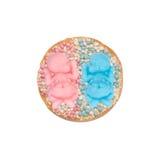 Biscotte avec des souris pour une fille et des jumeaux de garçon Photos libres de droits