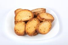 biscotte de Maison-bonne avec des raisins secs de plaque image libre de droits