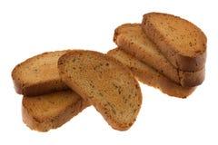 Biscottes avec le pavot Photos stock