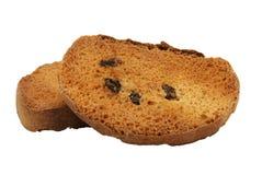 Biscottes d'isolement sur le blanc Image stock