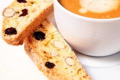 biscotti咖啡 免版税库存照片