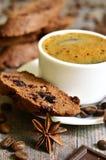 Biscotti σοκολάτας με το ξηρό το βακκίνιο Στοκ Εικόνες