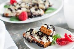 Biscotti печений клейковины свободное с ягодами Стоковые Фото