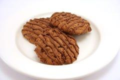 Biscotti 1 del fondente di cioccolato Fotografia Stock Libera da Diritti
