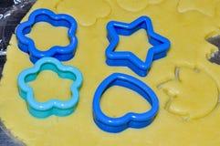 Biscotti al forno casalinghi Fotografia Stock