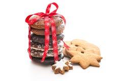 Biscotti al forno domestici di natale fotografia stock libera da diritti