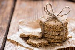 Biscotti al forno freschi dell'avena Fotografie Stock Libere da Diritti