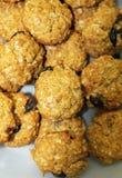 Biscotti al forno freschi su un vassoio Immagine Stock