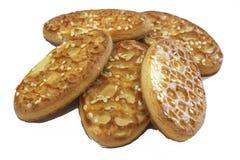 Biscotti al forno ovali Fotografia Stock