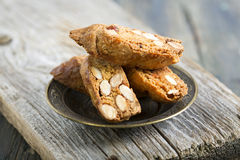 Biscotti with Almonds. Stock Photography