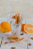 Biscotti arancio Immagini Stock Libere da Diritti