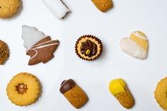 Biscotti asciutti della pasticceria Fotografie Stock